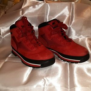 Timberland boys red boots